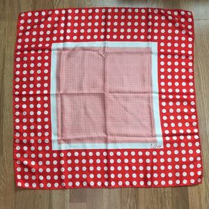Vintage Echo Red & White Polka-Dot Square Scarf
